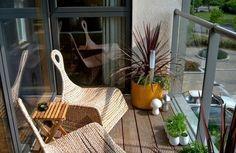 projekt balkon design ideen rattan beistelltisch