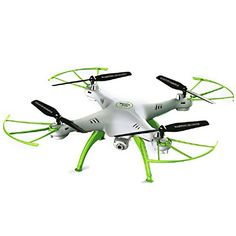 CEStore SYMA X5HW Headless Mode 6 Axis Gyro Quadcopter Drone with 0.3MP 1080P HD WIFI FPV Real-Time Aerial Photo Video Camera,360 Degree 3D Rotation Flips, LED Light for Night Flying-White Color ** You can get more details by clicking on the image.