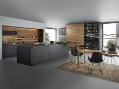 Solid wood kitchen with island BONDI VALAIS by LEICHT Küchen