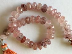 Strawberry Quartz Beads Strawberry Faceted by gemsforjewels