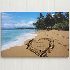 Personalized Canvas Art - Our Paradise Island Design - Large - Wedding Gifts