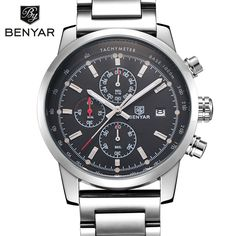 Men Watch Sport Quartz Luxury Watches Men Chronograph Waterproof Male Wristwatch Soild Steel Relogio Masculino 2017 New Arrival