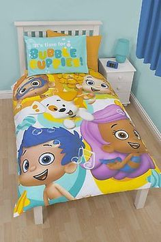 Bubble Guppies Splash Single Panel Duvet Set Children's Bedding Reversible