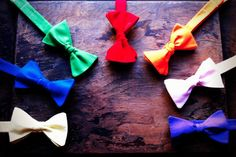 Lord Wallington - Custom Neckwear handmade - Bow Tie -Solid Colors
