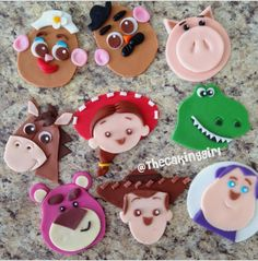 """Joey on Instagram: """"Some prep work today. Toy Story 3 cupcake toppers (baby…"""