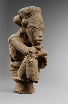 Africa | Figure from the Nok people of Nigeria | Terracotta | ca. 250 BC || November 2013 Catalogue, pg 25