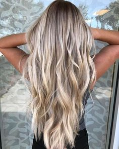 Marvelous Yes yes yes! Are you looking for hair color blonde balayage and brown for fall winter and summer? See our collection full of hair color blonde balayage and brown an . Cool Blonde Balayage, Cool Blonde Hair, Hair Color Balayage, Blonde Color, Ombre Hair, Balayage Hairstyle, Blonde Balyage, Winter Blonde Hair, Full Balayage