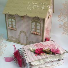 Cartonaje. Casa caja con minialbum de scrap. @belen_torres_ceuta. www.almadetorres.blogspot.com