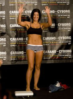 Gina Carano...strong, not skinny motivation! This is the body I need to work for!