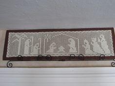 Filet Crochet Nativity