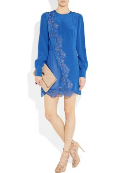 STELLA MCCARTNEY Joan silk crepe-de-chine and lace dress  Original price£1,337.50 NOW £671.02 50%OFF