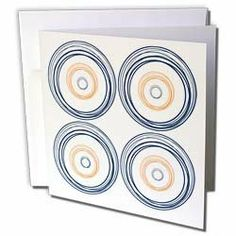"""Anne Marie Baugh Circle Art - Blue and Red Circle Art On A White Background - Greeting Cards-6 Greeting Cards with envelopes by 3dRose. $10.49. Blue and Red Circle Art On A White Background Greeting Card is a great way to say """"thank you"""" or to acknowledge any occasion. These blank cards are made of heavy duty card stock with a gloss exterior and a matte interior for smudge free writing. Cards are creased for easy folding and come with white envelopes. Available in sets..."""