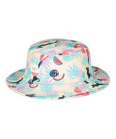 Look what I found on  zulily! Tropical Peach Parrot Hey Cuties Bucket Hat   f4cea973bea1