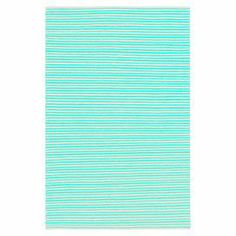 """Anchor your living room or den with this lovely hand-tufted rug, showcasing an understated stripe motif in mint.  Product: RugConstruction Material: 100% WoolColor: Mint and ivoryFeatures:  Hand-wovenMade in IndiaFlat pile No shedding Reversible 0.25"""" Pile height Note: Please be aware that actual colors may vary from those shown on your screen. Accent rugs may also not show the entire pattern that the corresponding area rugs have.Cleaning and Care: Vacuum regularly with non-beater ..."""