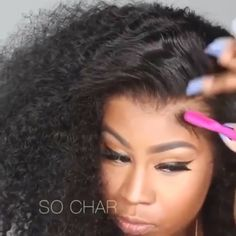 yoowigs erIts font is severe 🤔🤔. Front Hair Styles, Curly Hair Styles, Natural Hair Styles, Curly Weave Hairstyles, Black Hairstyles, Pelo Natural, Corte Y Color, Braids For Black Hair, Human Hair Lace Wigs