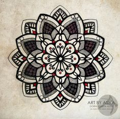 Tattoo Flash. Mandala, dotwork. by AsikaArt on DeviantArt