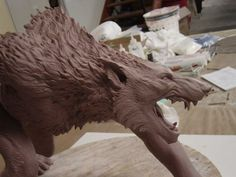 Behind the scenes of the greatest Movie Monsters and Creature Designs Fantasy Creatures, Mythical Creatures, Toy Art, Clay Monsters, Werewolf Art, Animal Bones, Fantasy Monster, Classic Monsters, Vampire