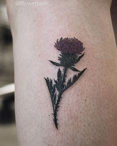 Little thistle #tattoo #tattoos #ink #inked #tattooed #tattooist #design #flower #flowers #plants #botanical #tattooistartmagazine #tatrussia #tattoodo #toptattooartists #thebesttattooartists #tattoorevuemag #tattoscute #tattoo_artwork #tattoo_worldwide_online #equilattera