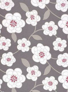 """54"""" wide100% Cotton   A gorgeous, over sized floral by Robert Allen in a woodsy, mushroom brown with soft beige, white and a splash of dark berry pink.   Pattern repeat is 27"""" x 27"""" and is multi-directional. Largest flower bloom is 11"""" across.  Made of 100% cotton, plain weave, upholstery weight fabric, weighs 10 oz or 300 grams per yard and has a soil and stain resistant finish."""