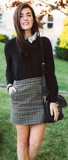 15 Karo-Rock-Outfits, die Sie jetzt kopieren müssen   - style loves - #die #Jetzt #KaroRockOutfits #kopieren #loves #müssen #Sie #Style