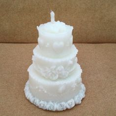 Wedding Favour Candles Wedding Cake Candle by LindsayLucasCandles