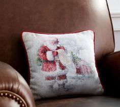 Nostalgic Santa's List Pillow | Pottery Barn, Pottery Barn $30