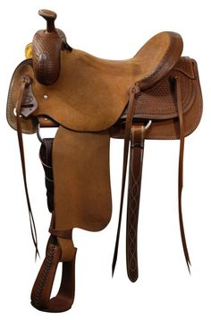 Model # Will James Roping Tree,Seat: Full QH,Swell: x Adjustment: This saddle has a warranty for Showman™ roper saddle. This saddle features basket weave tooling on skirt and pommel. Rough out fenders and jockies. Roping Saddles, Horse Saddles, Western Horse Tack, Western Saddles, Tree Seat, Pony Saddle, Saddles For Sale, Stirrup Leathers, 16 Bars