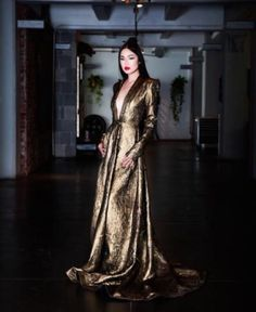 Stello Gold maxi dress