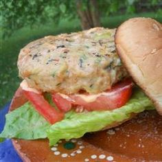Asian Zucchini and Chicken Burgers Allrecipes.com....sounds pretty good to me!