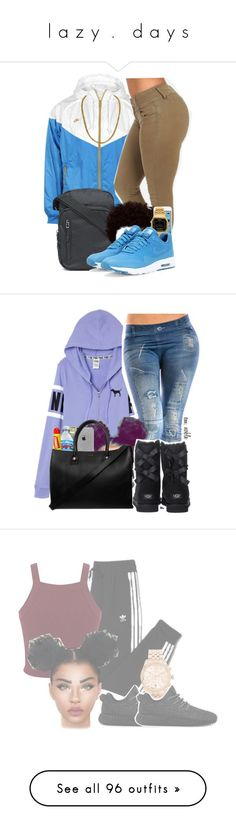 """l a z y  .   d a y s"" by mysquadtoowavy ❤ liked on Polyvore featuring NIKE, Casio, LA: Hearts, Carmex, Paul & Joe, UGG Australia, adidas, Miss Selfridge, Michael Kors and Topshop"