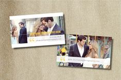 Business Card Photography Template - New Yorker Style. $15.00, via Etsy.
