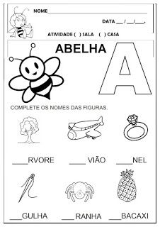 Letter Worksheets For Preschool, Tracing Worksheets, Alphabet Worksheets, Preschool Printables, Preschool Crafts, Portuguese Lessons, Alphabet Writing, Learn English Grammar, Baby Sister