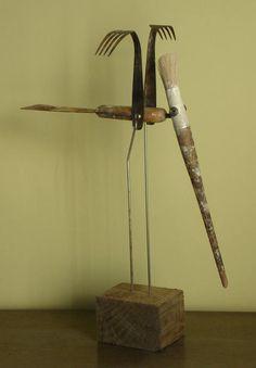 "Saatchi Art Artist: Oriol Cabrero; Mixed Media Sculpture ""crowned crane"""