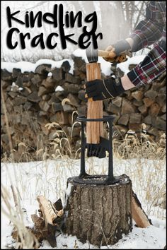 Here's a safer, faster, and easier way to make the best kindling for your fire!