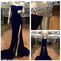 Nice Great Mermaid Crystal Formal Evening Party Dress Side Slit Off Shoulder Long Prom Gown 2018 Check more at http://24store.cf/fashion/great-mermaid-crystal-formal-evening-party-dress-side-slit-off-shoulder-long-prom-gown-2018/