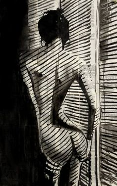 "Saatchi Art Artist Loui Jover; Drawing, ""blinds"" #art"