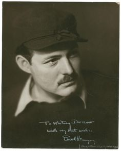 Author Ernest Miller Hemingway