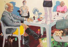 Arthur Arnold / Cafezinho na Casa do Seu Pereira / Acrílica sobre tela - 2012 - 160 x 210 cm