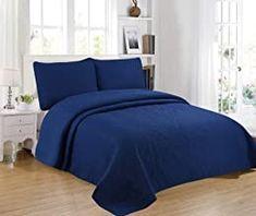 ForenTex Colcha Boutí, (S 2688), Reversible, Color Azul