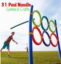 Pool Noodles games and crafts. Fun!