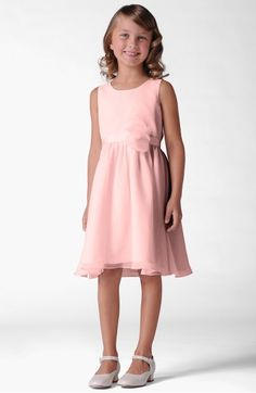Main Image - Us Angels Sleeveless Chiffon Dress (Little Girls & Big Girls)