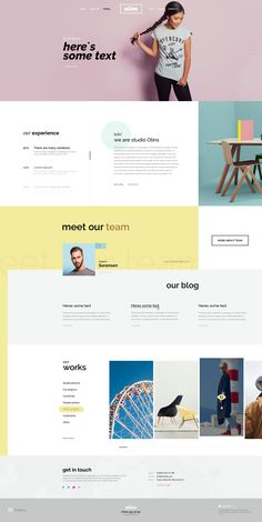 WP template with some homepage variations