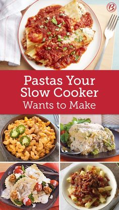 Forget sweating over a hot stove—with these recipes for pasta sauces, pasta casseroles and more easy dishes, you can leave your slow cooker to do the work.