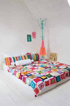 Patchwork blanket in a jiffy