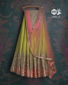 The Stylish And Elegant Lehenga Choli In Light Green Colour Looks Stunning And Gorgeous With Trendy And Fashionable Embroidery .The Net Fabric Party Wear Lehenga Choli Looks Extremely Attractive And. Indian Bridesmaid Dresses, Desi Wedding Dresses, Indian Gowns Dresses, Indian Bridal Outfits, Indian Fashion Dresses, Indian Designer Outfits, Indian Designers, Designer Lehnga Choli, Designer Bridal Lehenga