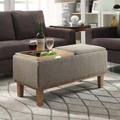 Designs4Comfort Brentwood Storage Ottoman (Sandstone), Brown Taupe