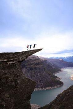 Trolltunga, Skjeggedal Canyon in Odda, Norway