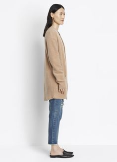 Boiled Cashmere Robe Cardigan