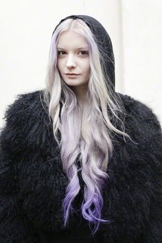 Lavender Dip Dye Hair by LOVEMILY
