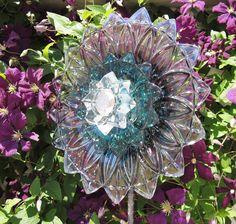 Garden Art Yard Decor Suncatcher UpCycled RePurposed Glass